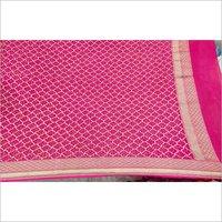 Moonga Spun Silk Pure Handloom Bandhej Dupatta