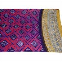 Modal Silk Pure Ajrak Print Bandhej Dupatta