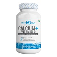 HealthOxide Calcium 625 mg + Vitamin D 400 IU for Bone Health provides easily Absorbed Calcium – 120 Tablets