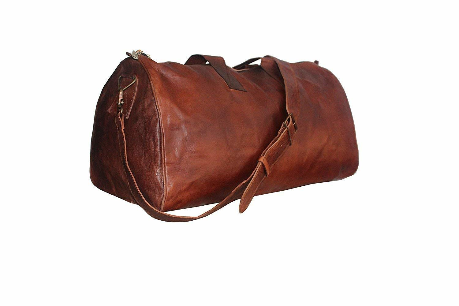Leather Vintage-style Duffel Travel Bag