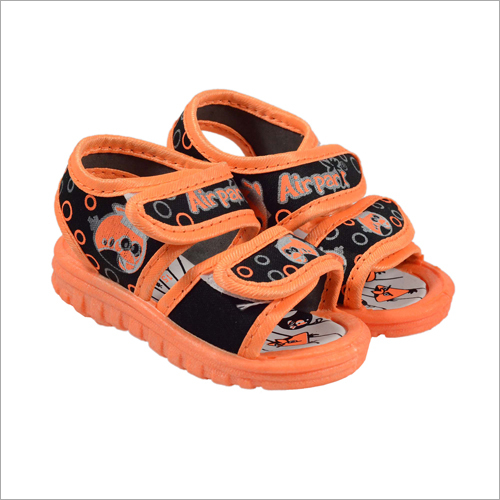 Kids Black-Orange  Sandal