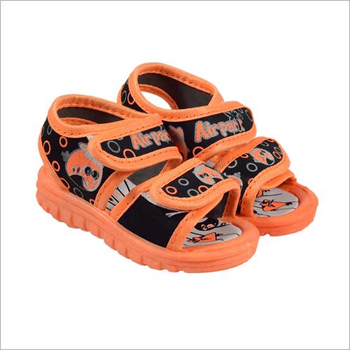 Kids Black-Orange  Sandal
