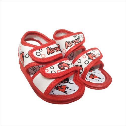 Kids White-Red Sandal