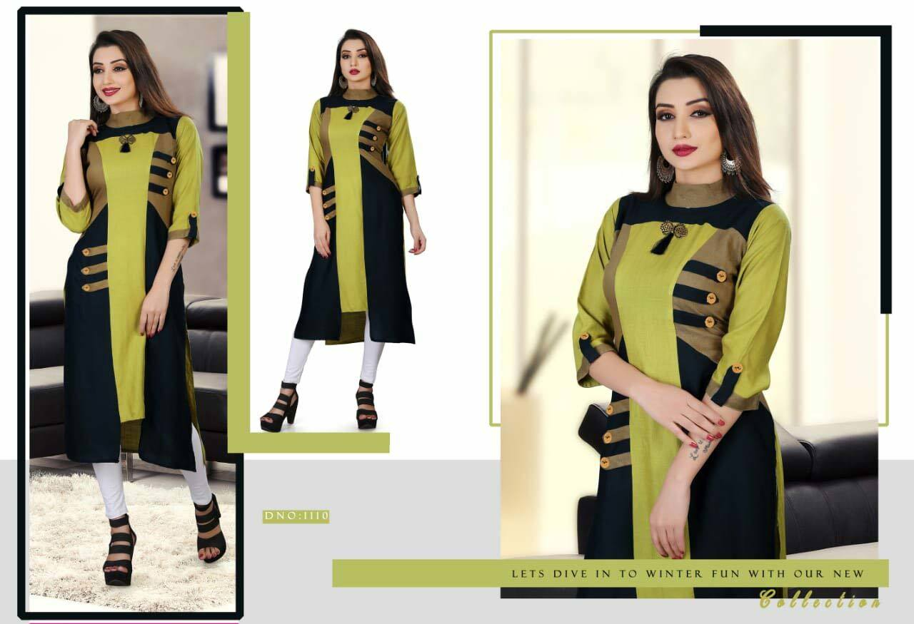 Bhagyashree Tf Designer Plain Daily Wear Kurti