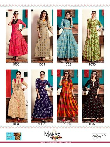 Bhakti Vol-5 Manas Printed Long Kurta Wholeseller