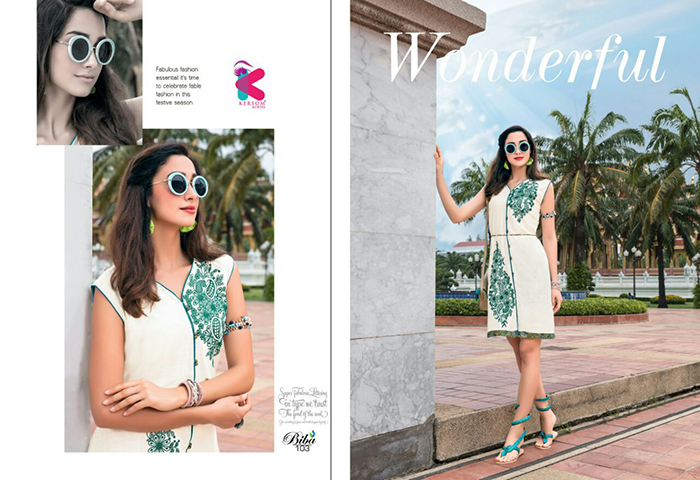 Biba Kersom Designer Daily Wear Wholesale Kurti