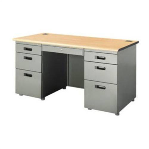 Stainless Steel Office Table with Drawer