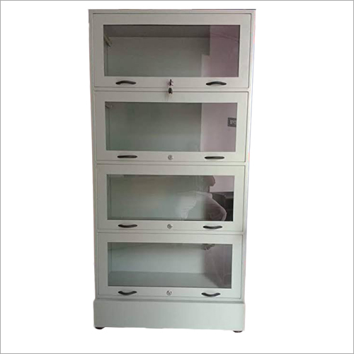 Stainless Steel Book Rack with Glass