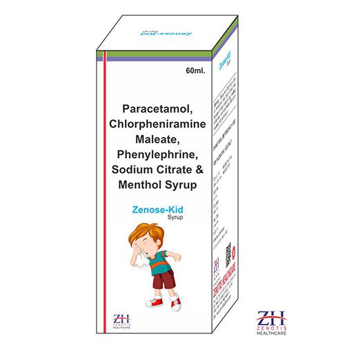 Paracetamol, Chlorpheniramine, Phenylephrine, Sodium Citrate & Menthol Suspension