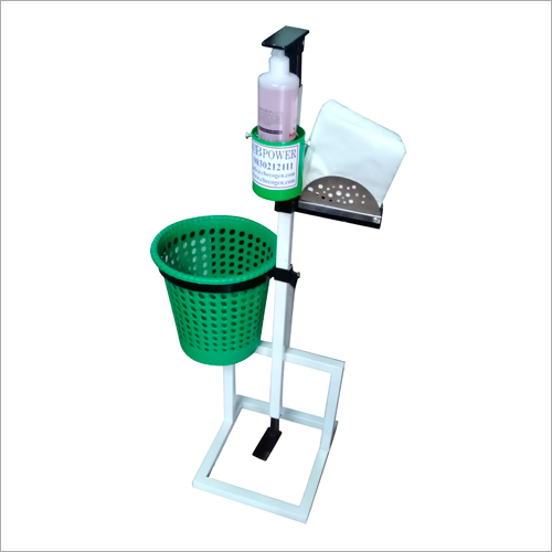 Foot Operated Sanitizer Dispenser With Dustbin