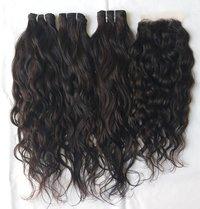 Indian Raw Virgin wavy hair ,natural shine ,Single donor hair