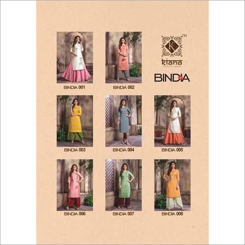 Bindia Kiana Chanderi Embroidery Kurti