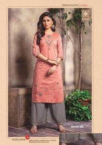 Bindia Kiana Chanderi Embroidery Kurti