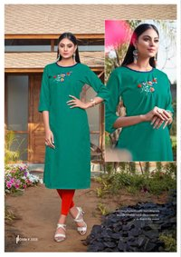 Blend Vol-3 Cotton Embroidery Kurti Catalog