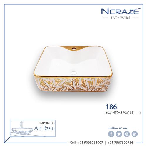 Best price Orange white Table top Wash basin