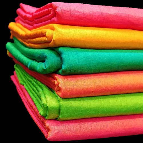 Two Tone Silk Saree Fabric
