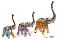 Deco Paintiong Elephant table Decor