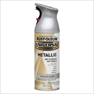 Rust-Oleum 262662 UNIVERSAL Metallic Spray Paint, Dark Steel, 312 Grams