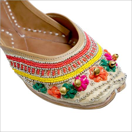 Multi Color Bead Work with Ghungaroo Jutti