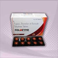 Trypsin 48mg - Rutoside Trihydrate 100mg - Bromelain Tablets