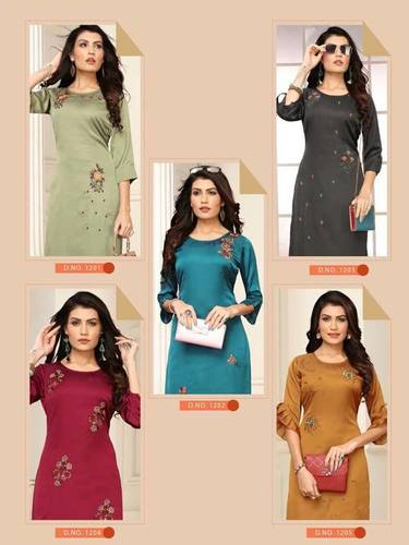 Blush Banwery Indo Silk Wholesale Kurti Sets