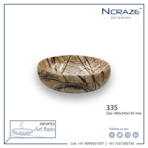Wooden Marble Wash Basin