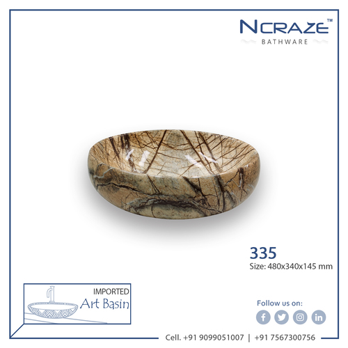 Wooden Marble Wash Basin