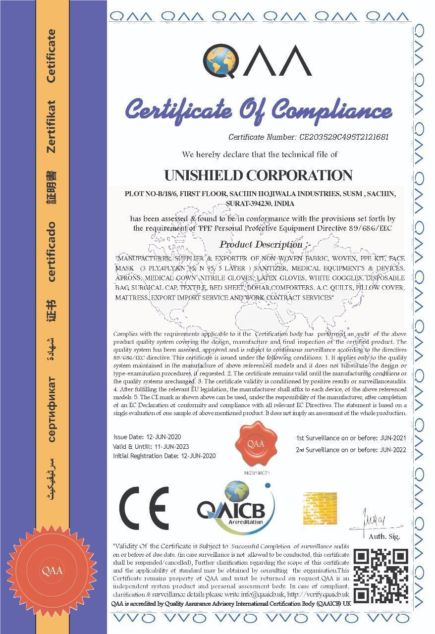 UNISHIELD N95 FFP2 Mask