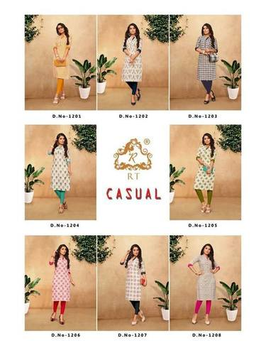 Casual RT Design Cotton Flex Printed Kurti