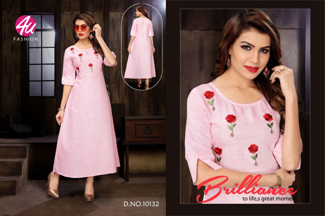 Celebration 4u Fashion Rayon Embroidery Kurti for Export
