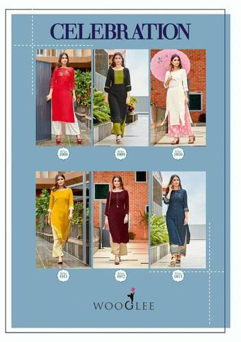 Celebration Wooglee Fashion Palazzo Kurti Catalog