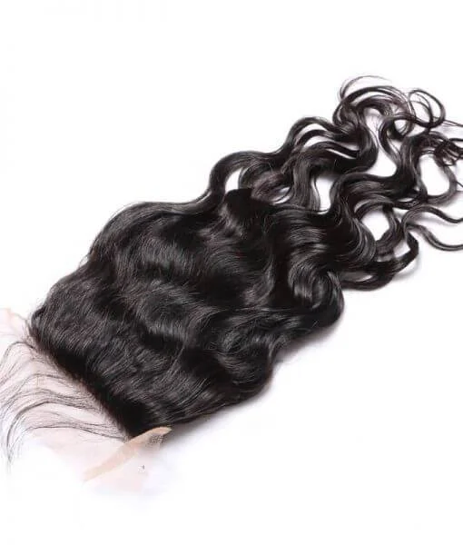 Hairkartt 4 x 4 Swiss Lace Closure Natural Wavy (Natural Black)