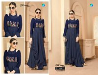 Celebrity Your Choice Rayon Lining Handwork One Piece