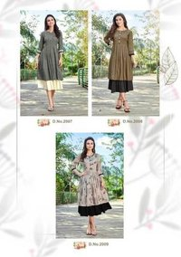 Chahat Two Layer Wholesale Kurti Catalog