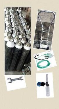 Cylinder,Trolley,Flowmeter, Spanner,oxygenMask