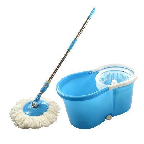 360 Spin Plastic Mop Bucket Trolley