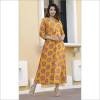 Designer Printed Cotton Dress