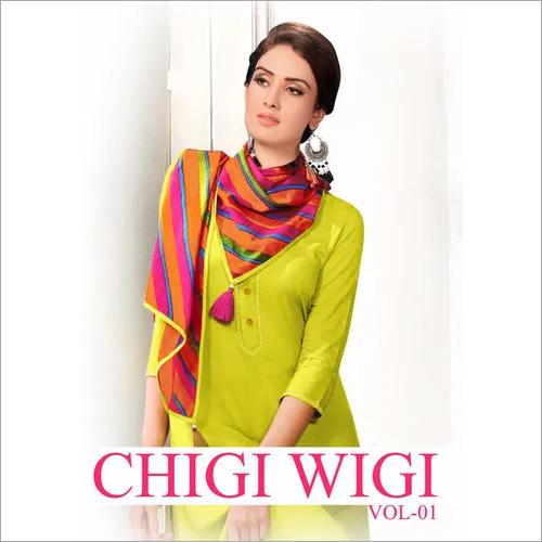 Chigi Wigi Vol-1 Lavanya Present Dupatta Kurti Set