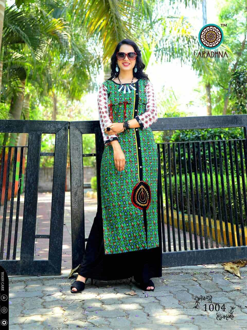 Chocolaty Aradhna Design Rayon Cotton Print Kurtis