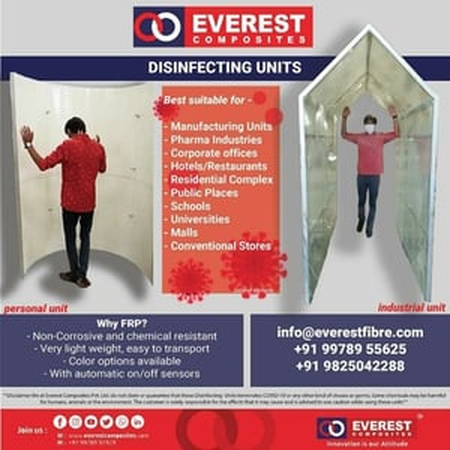 Everest Prefab Sanitization Walkway Type Tunnel - Disinfecting Unit