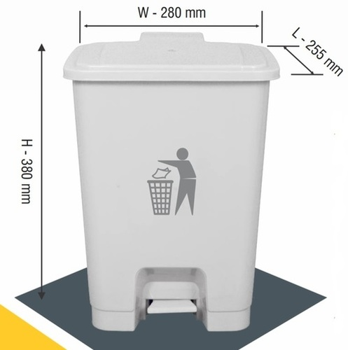 Bin Plastic Pedal 15 Ltrs. 26 x 28 x 38 cm Commercial