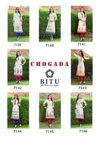 Chogada Bitu Present Cotton Flex Printed Straight Kurtis