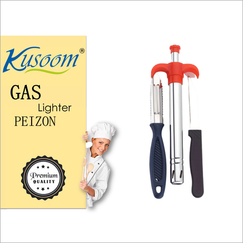 Knife And Peeler With Gas Lighter