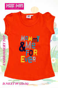 Mommy & Me Forever Embroidery Girls Top