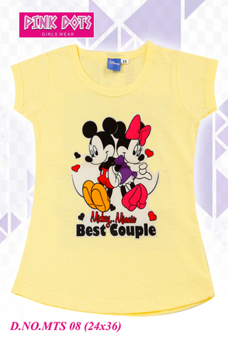 24 Number Mickey Minnie Girls Top