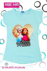 Anna Frozen Printed Girls Top