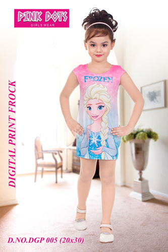 Frozen Digital Print Frock