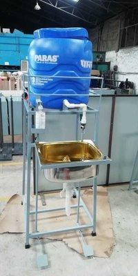 Foot operated hand wash basin
