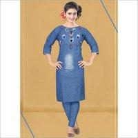Chokidar Vol-2 Privaa Cotton Denim Embroidery Kurti