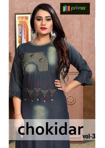 Chokidar Vol-3 Privaa Applica Design Denim Kurti